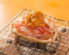烤蟹壳 (海胆,雪蟹)