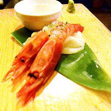 鲜虾(生鱼片)