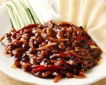 甜面酱炒猪肉片