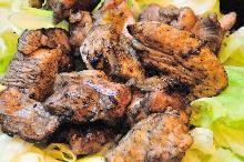 炭火烤鸡肉