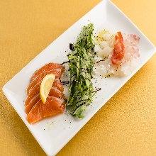 意式生腌2种海鲜