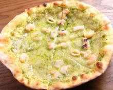 罗勒马斯卡邦尼奶酪披萨