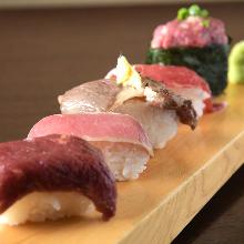 马肉手握寿司拼盘