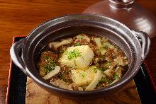 高汤炸豆腐 (牛筋肉)