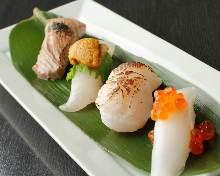 4种手握寿司拼盘