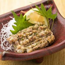 碎切调味竹荚鱼刺身