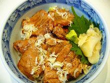 烤中肥金枪鱼肉盖饭