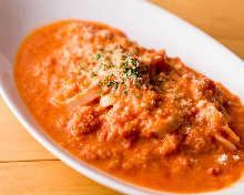 蟹肉番茄奶油意面