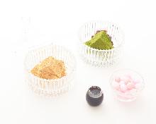 黄豆粉抹茶蕨饼