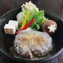 和牛汉堡排套餐 寿喜烧风味(配奶酪)