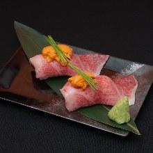 沙朗牛肉手握寿司