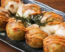 烤奶酪章鱼丸明太子
