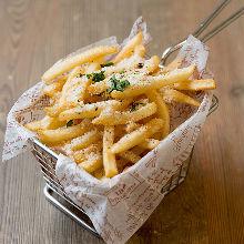炸薯条 佐番茄酱或松露盐或盐