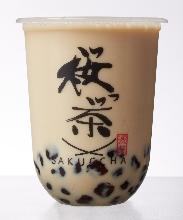 Roasted green tea latte