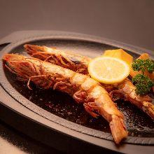 盐烤日本对虾