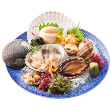 贝类生鱼片拼盘