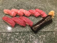 金枪鱼寿司拼盘