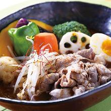 羊肉蔬菜汤咖喱
