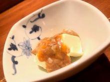 盐腌鲣鱼肚配奶油奶酪