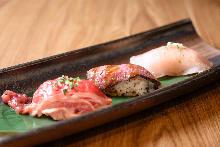 肉类寿司拼盘