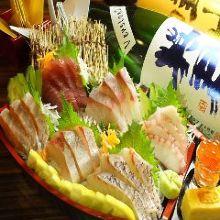 6种生鱼片拼盘
