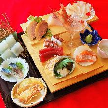 10种生鱼片拼盘