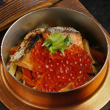 鲑鱼卵锅饭