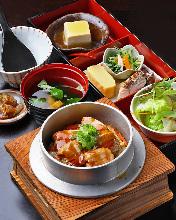鲑鱼亲子锅饭御膳套餐