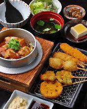 时令锅饭和炸串御膳套餐