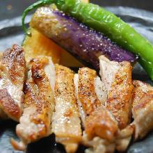 黑胡椒烤鸡肉