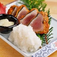 三分熟炸鲣鱼