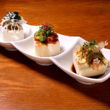 3种冷制豆腐拼盘