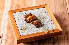 香葱五花猪肉烤串