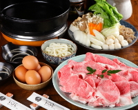 "Experience our signature product, ""Omi Beef Sukiyaki!"" Please try our long-established flavour."
