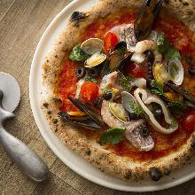 海鲜蒜香披萨