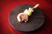 葱段鸭肉串