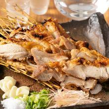 稻草熏烤鸡肉