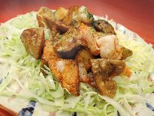 蛋黄酱炒虾和土豆