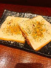 烤奶酪半片鱼糕