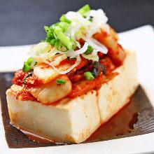 泡菜凉拌豆腐