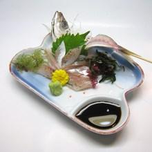 活竹荚鱼生鱼片