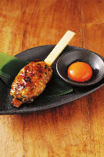 蘸生蛋黄肉丸