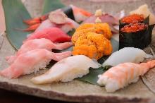 7种握寿司拼盘