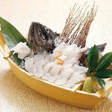 整只魚生魚片
