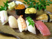 上等手握寿司拼盘 附紅味噌汤