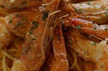 虾仁番茄奶油意面