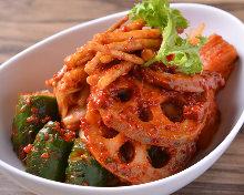 5種韓國泡菜拼盤