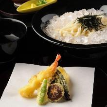 炸蝦天婦羅笊籬烏龍麵