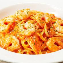 鮮蝦奶油番茄汁義大利麵