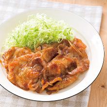 薑汁豬肉套餐